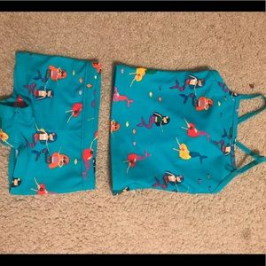 NWT Hanna Andersson 2 piece swimsuit size 80 cm